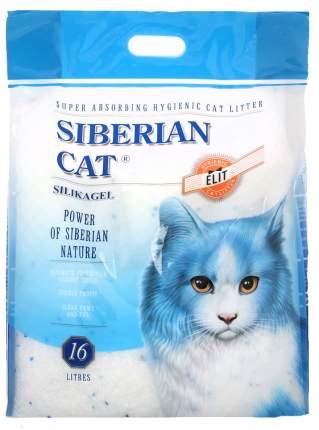 Наполнитель Сибирская кошка Элитный силикагелевый 16 л без запаха
