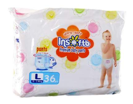 Трусики-подгузники Insoftb Premium Ultra-Soft L (9-14 кг), 36 шт.