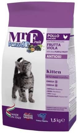 Сухой корм для котят Forza10 Mr Fruit Kitten, курица, рыба, 1,5кг