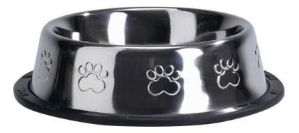 Одинарная миска для собак Beeztees, сталь, резина, серебристый, 0,3 л