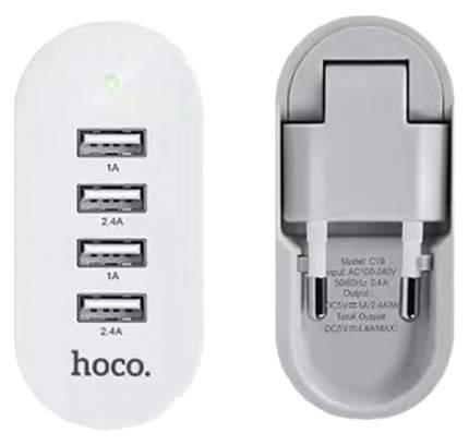 Сетевое зарядное устройство Hoco C19 4 USB 4,8A White