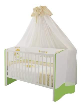 Кровать-трансформер Polini Simple 140 х 70 белый-лайм