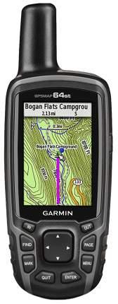 Туристический навигатор Garmin GPSMap 64ST черный/серый