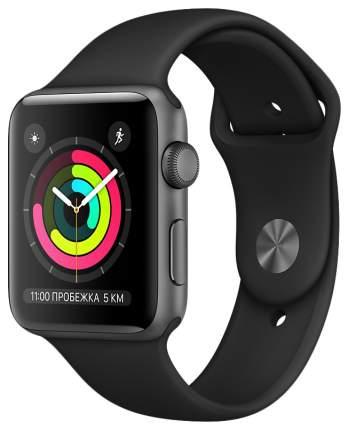 Смарт-часы Apple Watch Series 3 38mm Space Gray Al/Black Band (MQKV2RU/A)