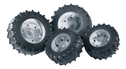 Шины Bruder Для системы сдвоенных колёс с серебристыми дисками 4 шт.