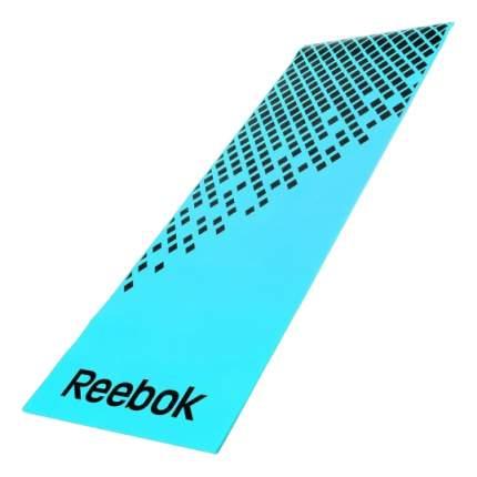 Коврик для фитнеса Reebok RAMT-12235BL черно-голубой 8 мм