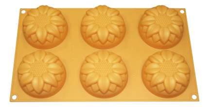 Форма для выпечки SILIKOMART Подсолнухи желтая