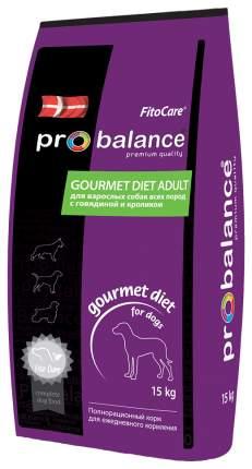 Корм для собак ProBalance GOURMET Diet, говядина, кролик, 1шт, 15кг