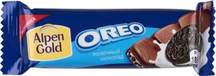Шоколадный батончик Alpen Gold оreo молочный шоколад 35 г