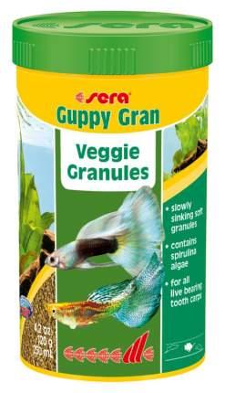 Корм для рыб Sera Guppy gran, гранулы, 250 мл