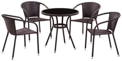 Комплект мебели Afina Garden T282ANS/Y137C-W53 Brown (4+1)