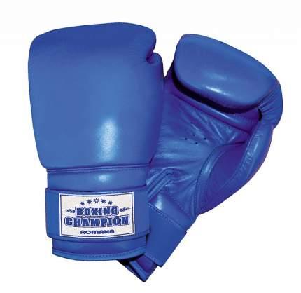 Боксерские перчатки детские Romana ДМФ-МК-01.70.04 синие 6 унций