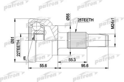 Шрус PATRON PCV1300