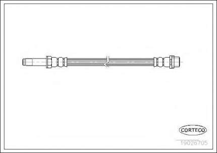 Шланг тормозной Corteco 19026705