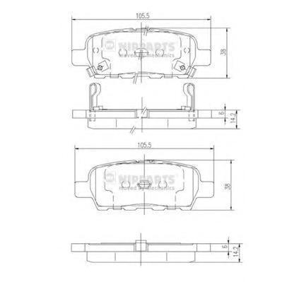 Тормозные колодки дисковые Nipparts J3611044
