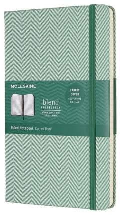 Блокнот Moleskine Blend Large Limited Edition, Зеленый, в линейку