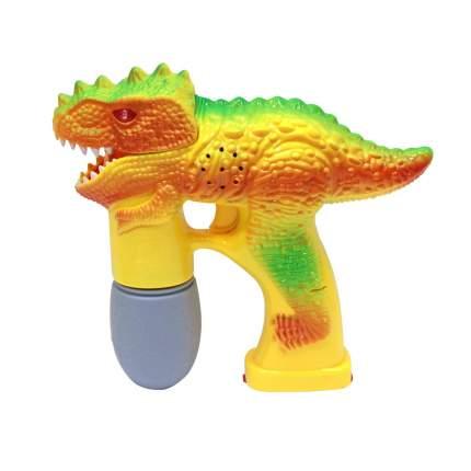Динозавр-пистолет 1toy со звуковым эффектом и неоновыми мульными пузырями T59665