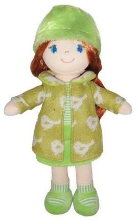 Кукла Creation Manufactory Рыжая в зелёном пальто мягконабивная, 36 см