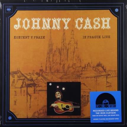 Виниловая пластинка Johnny Cash KONCERT V PRAZE (IN PRAGUE LIVE) (180 Gram Red vinyl)