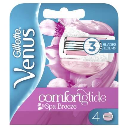 Сменные кассеты Gillette Venus Breeze SPA cо встроенными полосками с гелем для бритья 4 шт