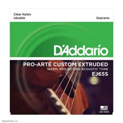 Струны для укулеле сопрано D ADDARIO EJ65 S
