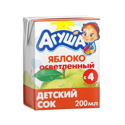 Сок Агуша Яблоко с 4 мес 200 мл
