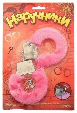Наручники Сима-ленд металлические с розовым мехом