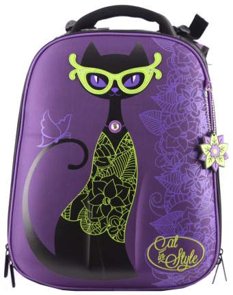 Ранец детский Hummingbird Cat Style для девочек Фиолетовый T81