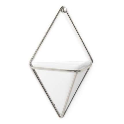 Декор для стен Trigg, малый, белый/никель