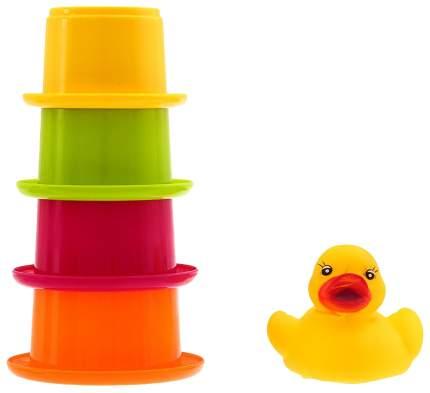 Игрушки для купания «Уточка со стаканчиками», 5 предметов Sima-Land