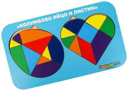 Набор головоломок 2.0 «Колумбово яйцо и листик», 083310 Woodland (Сибирский сувенир)