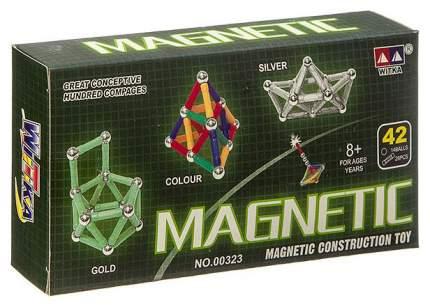 """Магнитный конструктор """"MAGNETIC"""", серебро, 42 детали"""