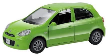 Машина металлическая RMZ City 1:32 NISSAN MARCH, Цвет Зелёный