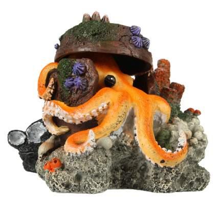 Декорация для аквариума AQUA DELLA Осьминог, полиэфирная смола, 11х5х12 см