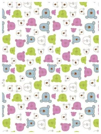 Плед-покрывало Baby Nice Разноцветные мишки на белом 150x200
