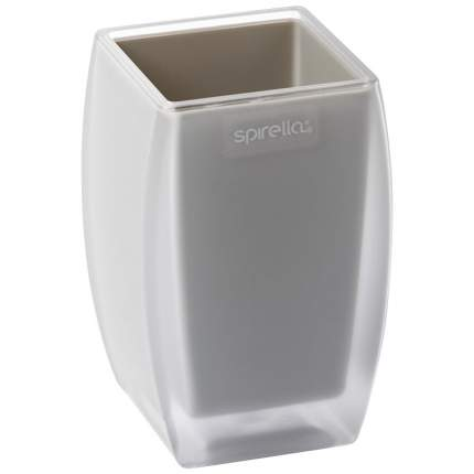 Стакан для зубных щеток Spirella Freddo, полистирол, цвет серый