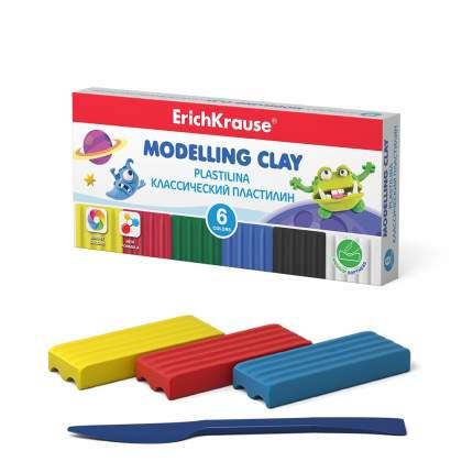 Классический пластилин ErichKrause Monsters 6 цветов со стеком 90г