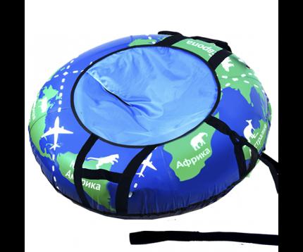 Санки надувные Тяни-толкай Глобус тент 83см