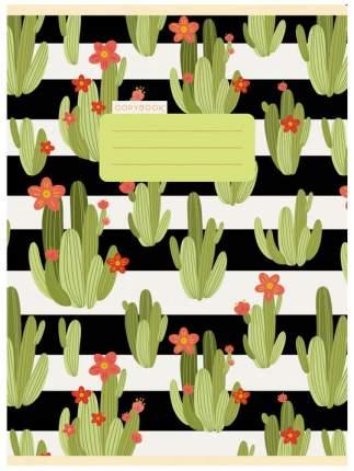 """Тетрадь для конспектов """"Милые кактусы"""" А4, 80 листов, в клетку"""