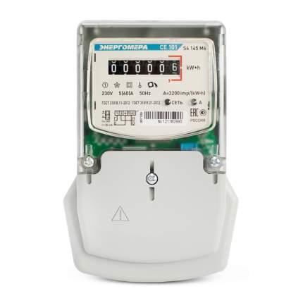 Счетчик электроэнергии Энергомера Ce101 S6 145 М6 Счетчик Эл/Эн 1Ф 1Т 5(60)А, 6-Ти