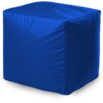 Пуф бескаркасный ПуффБери Квадратный Оксфорд, размер S, оксфорд, синий