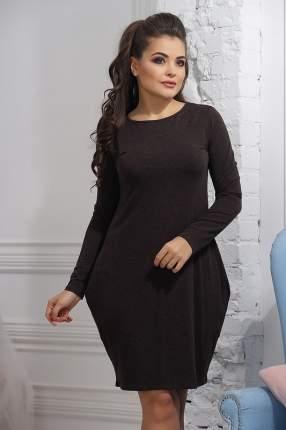 Платье женское VAY 3236 коричневое 50 RU