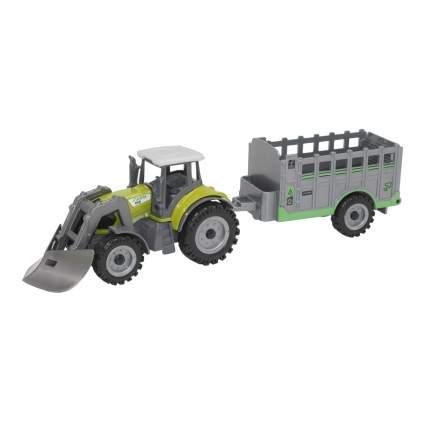 Машинка металлическая Автопанорама трактор с прицепом  JB1251066