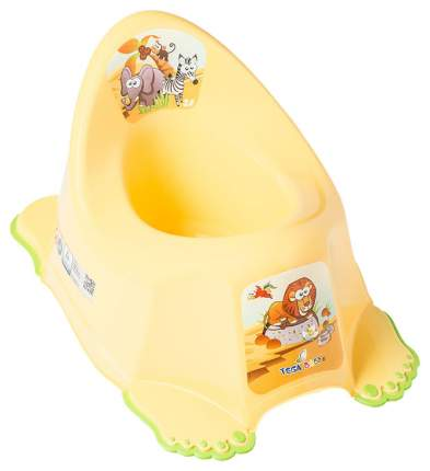 Горшок музыкальный Tega Baby Сафари, антискользящий, желтый