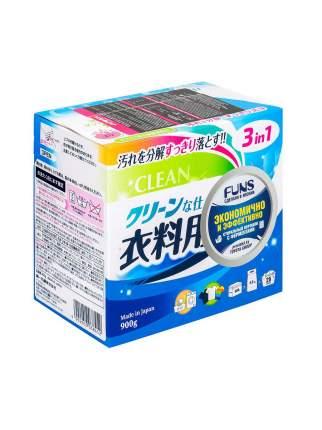 Стиральный порошок FUNS Clean с ферментом яичного белка для полного устранения пятен 900 г