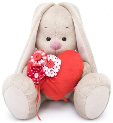 Мягкая игрушка Budi Basa Зайка Ми с красным сердечком 18см