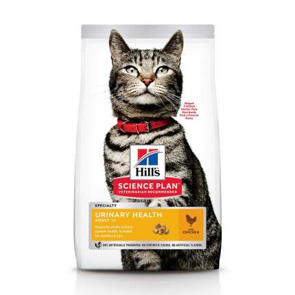 Сухой корм для кошек Hill's Science Plan Urinary Health, для склонных к МКБ, курица, 7кг