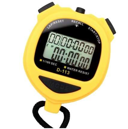 Спортивный секундомер AnyTime D-113, желтый, 3176.2