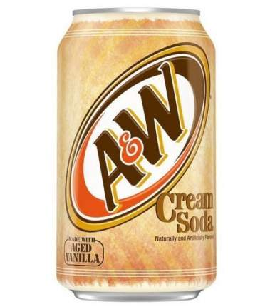 Напиток A&W сream soda жестяная банка 0.36 л