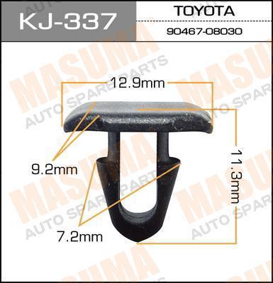 Клипса автомобильная Masuma KJ337